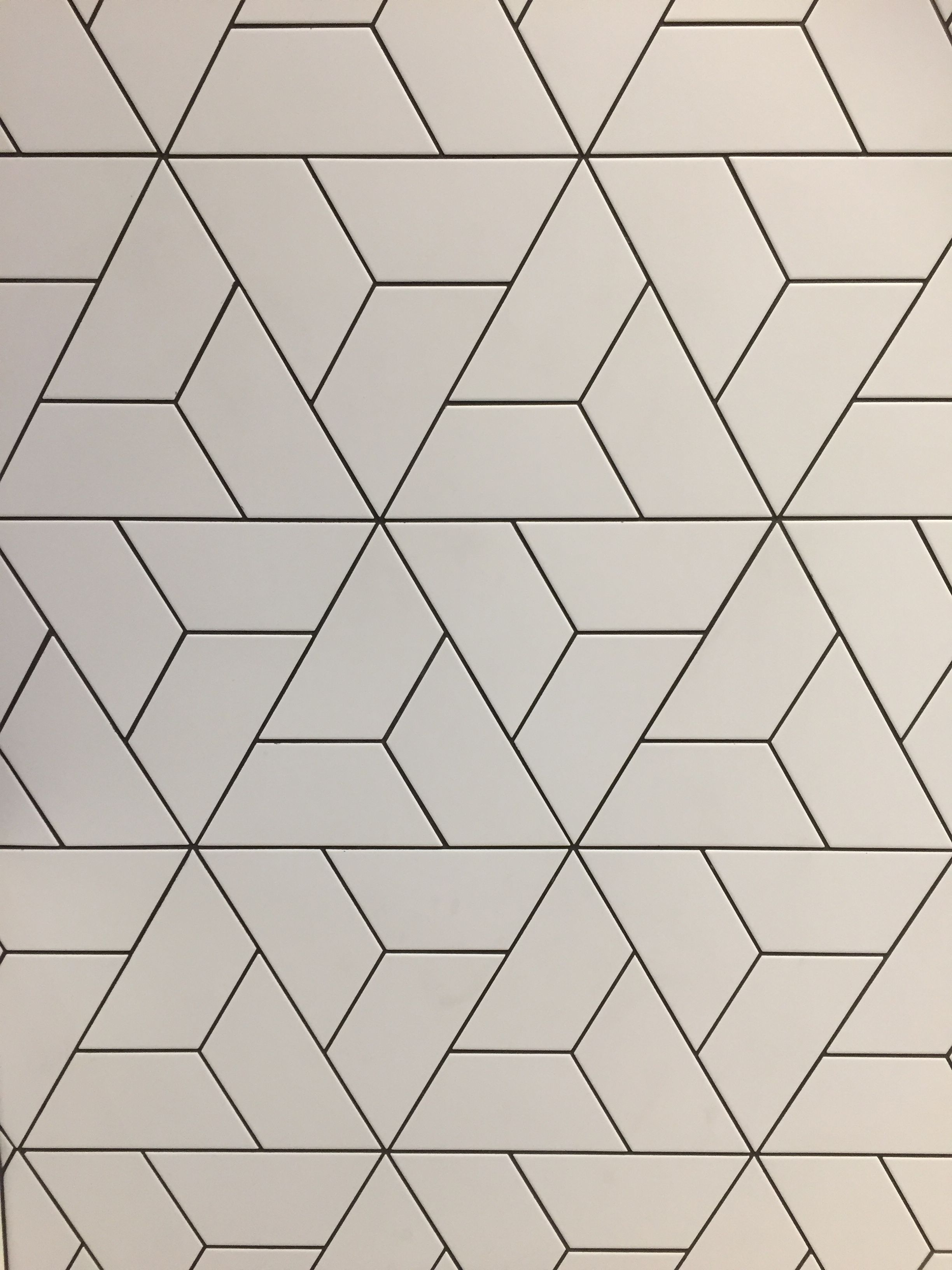 Absolutely beautiful trapezoid to triangle tile pattern found at ...