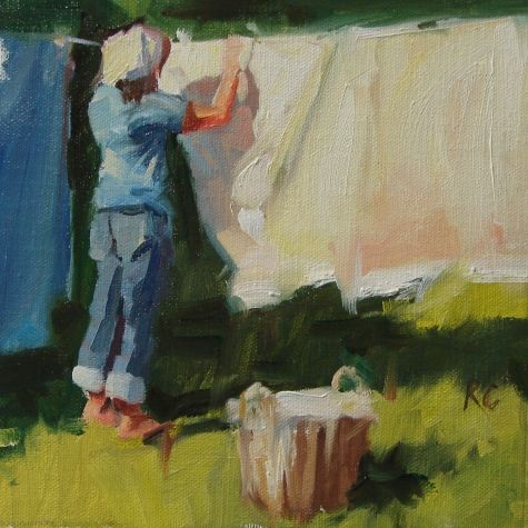 Wash Day Original Art Painting By Robin Cheers Dailypainters Com