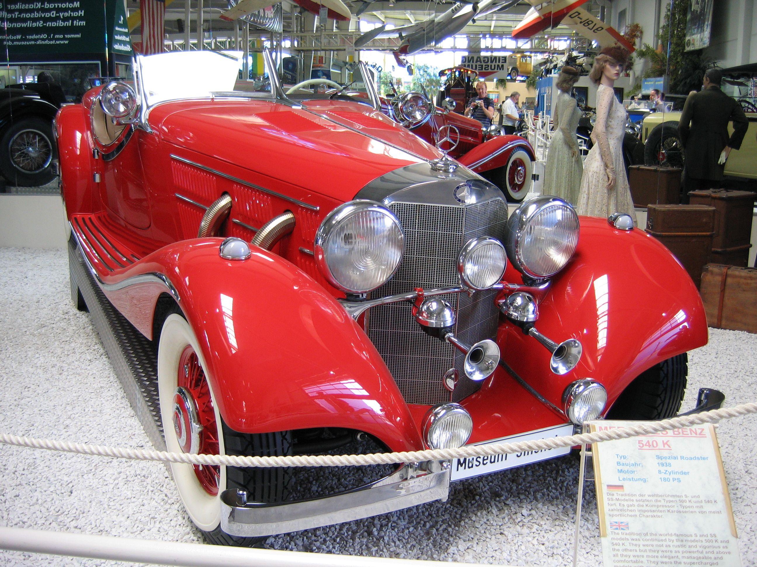 mercedes benz 540k spezial roadster 1938 sinsheim museum
