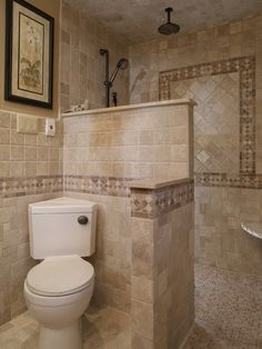 Mediterranean Bathroom Walk In Shower Design Pictures Remodel