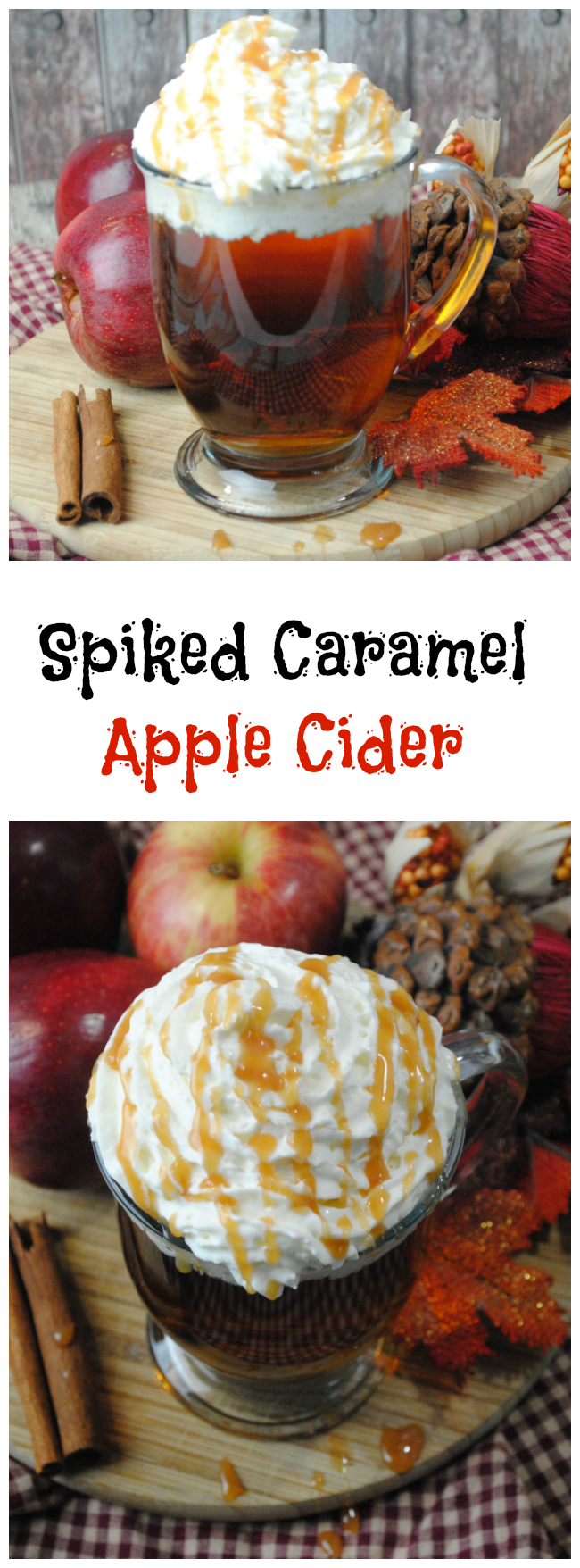 Spiked Caramel Apple Cider Recipe | Be Plum Crazy!