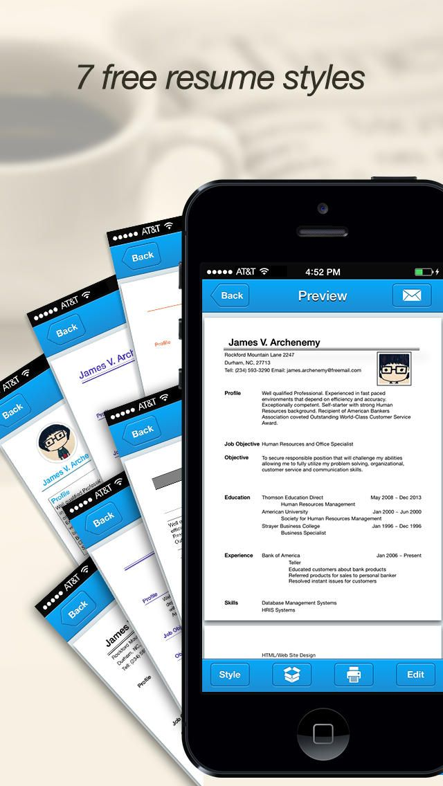 Quick Resume Pro \u2013 Resumes Maker and Designer app Resume/CV Apps