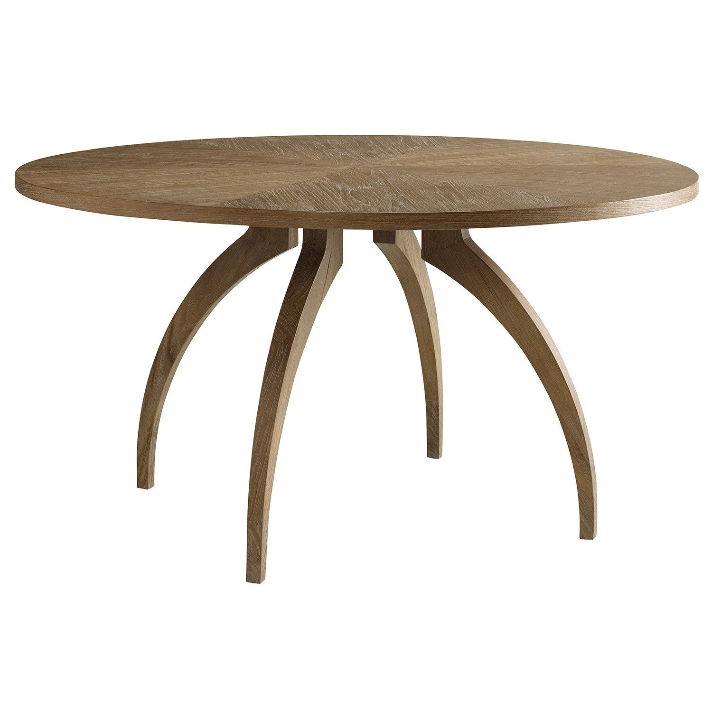 Atherton Round Dining Table In Teak Finish Brownstone Furniture 1967 Zinc Door Furniture