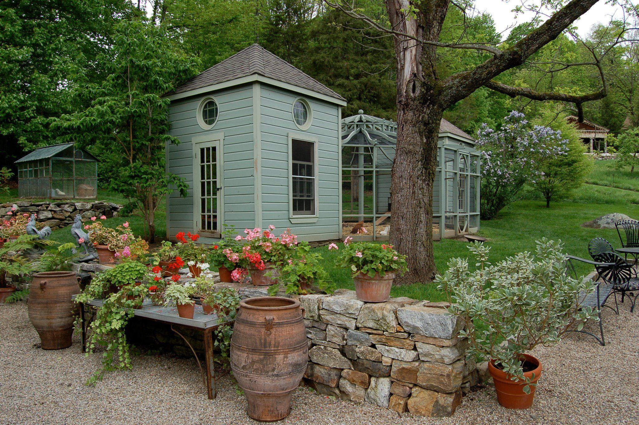 Chicken Coop In The Garden Of Bunny Williams Chickens Backyard