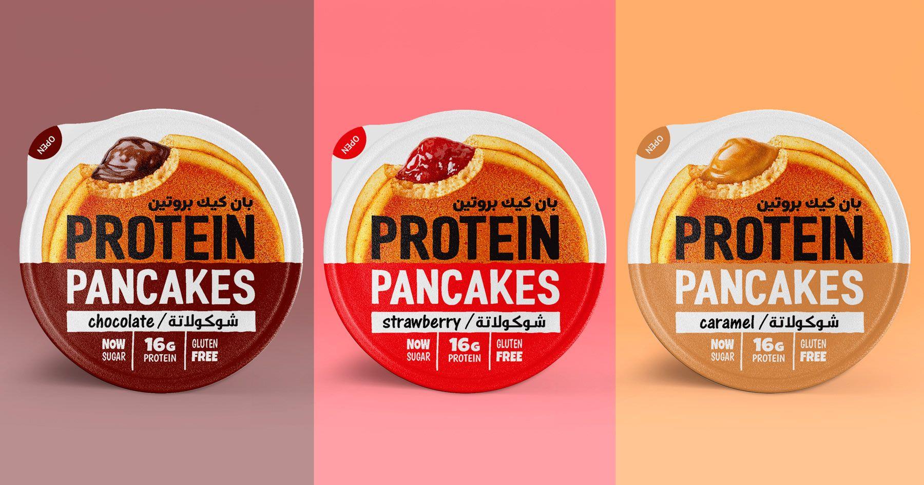 Design Of Protein Pancakes Tm Amalfi Food Bahrain On Behance Protein Pancakes Pancakes Protein