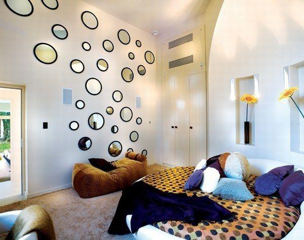 Spiegel-Wand Rund Deko-Schlafzimmer Design Ideen Ideas For Your - spiegel für schlafzimmer