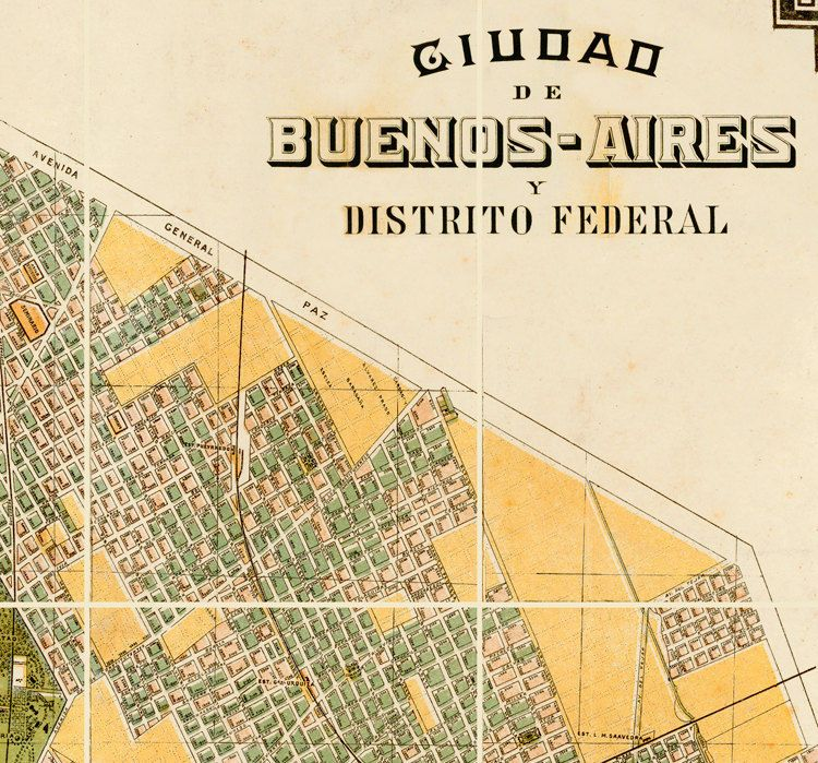 Old Map Of Buenos Aires Argentina Destination By Design - Argentina map vintage