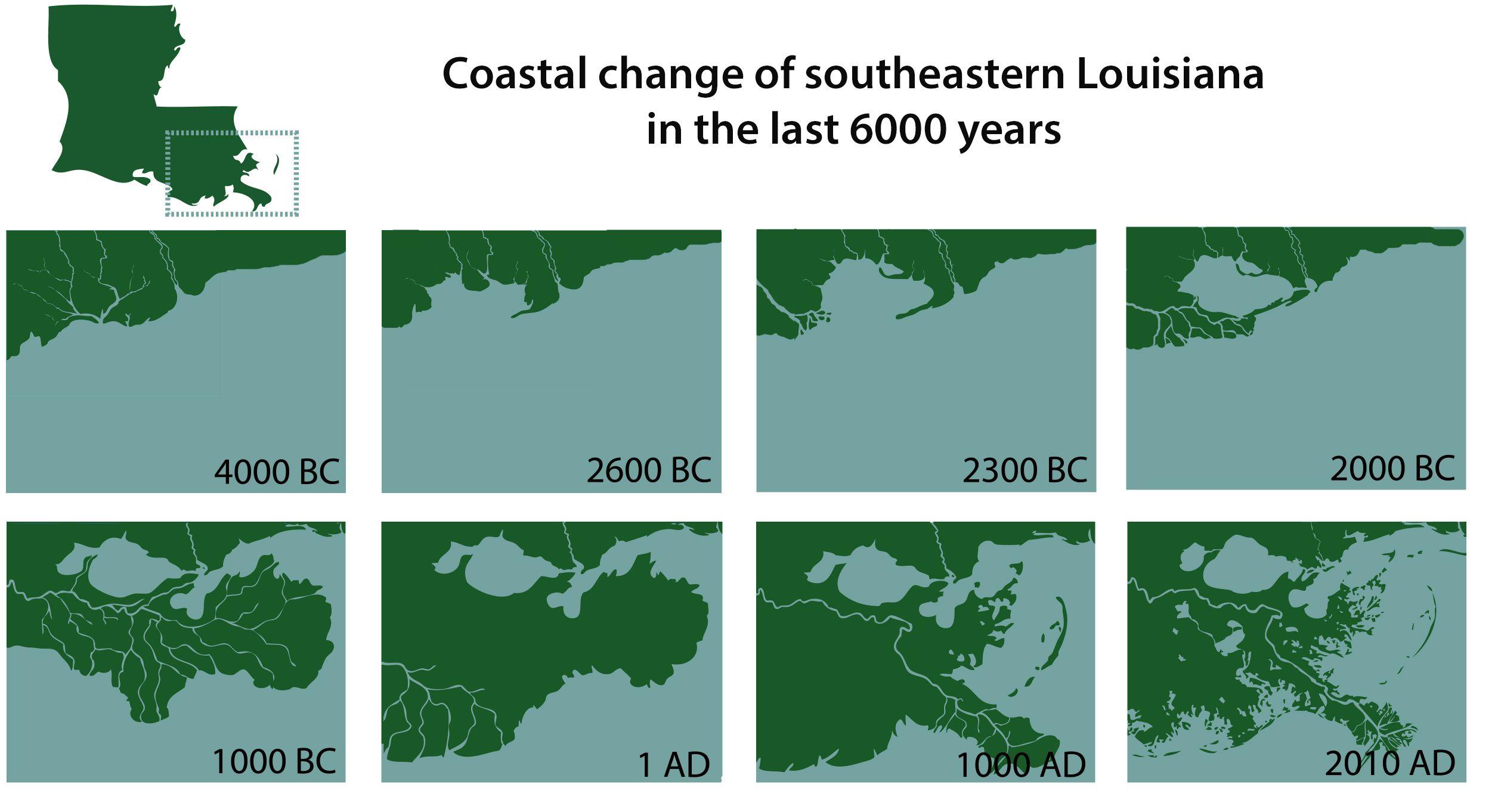 How the Mississippi River Delta formed coastal change of