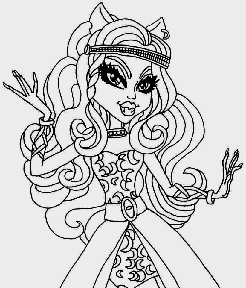 Monster High Coloring Pages Clawdeen Wolf  Coloring Pages