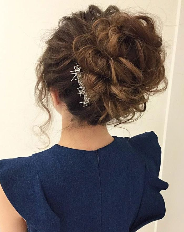 Drop Dead Gorgeous Messy Updo Hairstyle Idea Wedding Hair Style