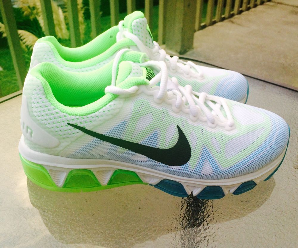 best sneakers 2e062 1aead Nike Air Max Tailwind 7 Shoes Authentic White green blue women size 7  Nike   RunningCrossTraining