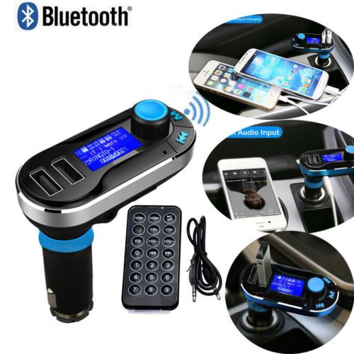 Wireless Bluetooth Handsfree FM Transmitter Car Kit Stereo MP3 Dual USB Charger