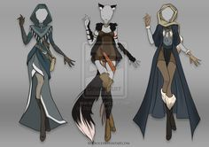 (OPEN) Adoptable Outfit Auction 19 by Risoluce on DeviantArt Omg the one on the left!!!!