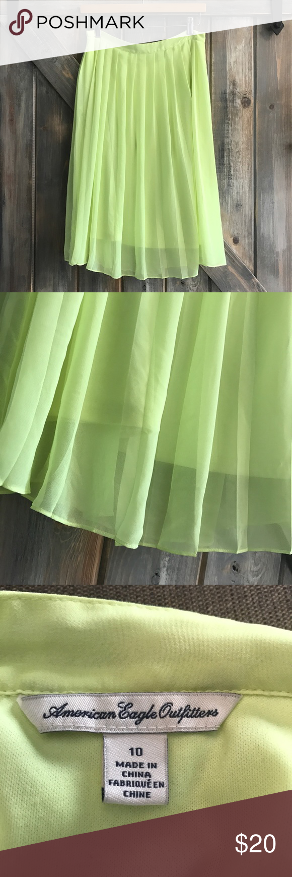 ✨NEW✨ Neon Skater Skirt EUC! Gorgeous! Fully lined! American Eagle Outfitters Skirts Circle & Skater
