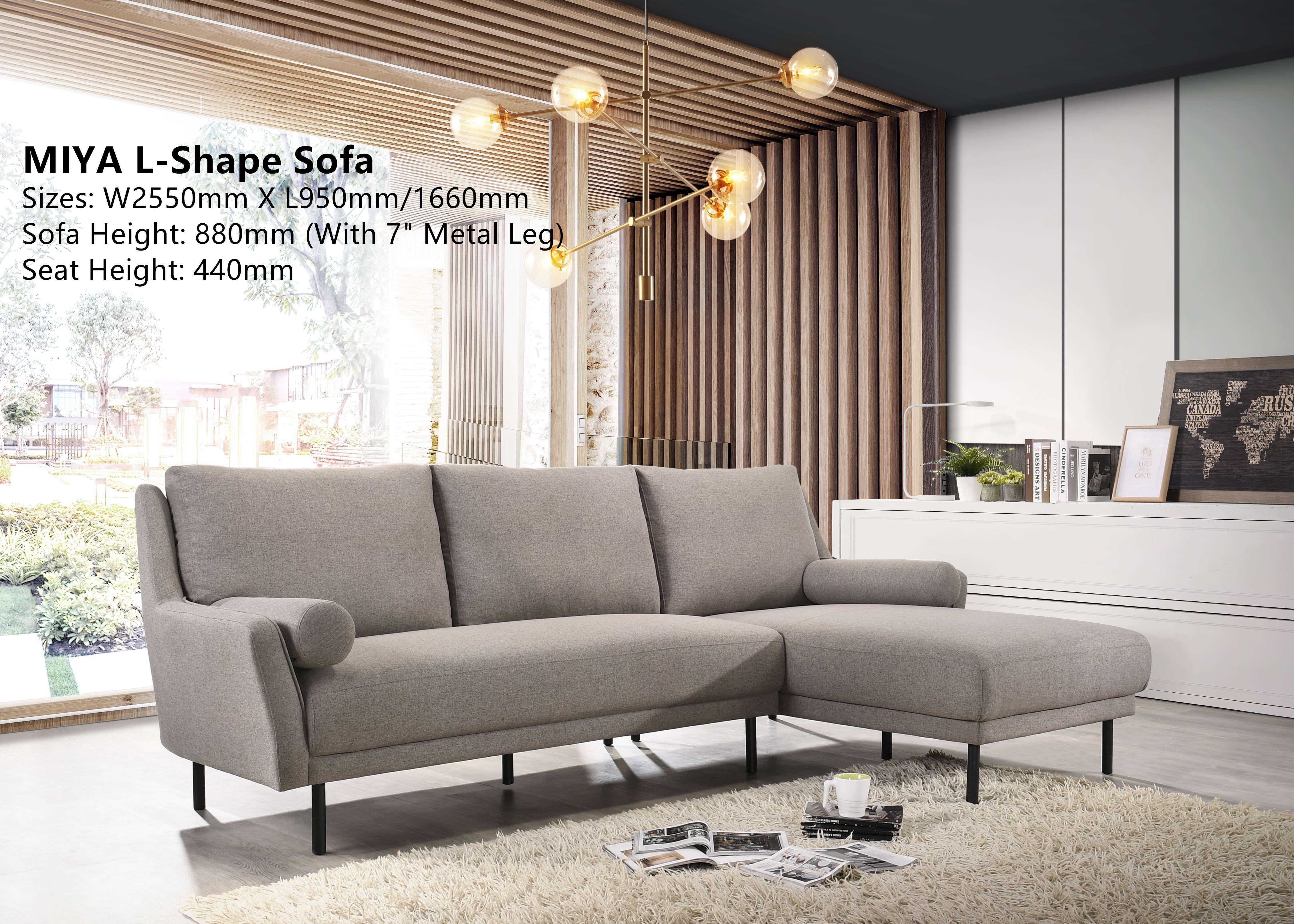 Miya L Shaped Faric Sofa Furnituredirect Com My In 2020 L Shaped Sofa Wood Sofa Retail Furniture