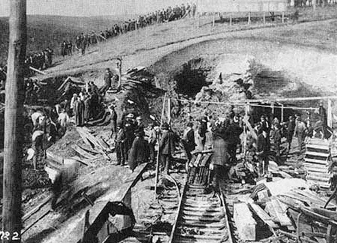 Aftermath of Explosion at Monongah Mine No. 8, Monongah, W