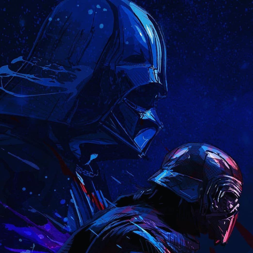 Darth Vader and Kylo Ren starwars Star wars artwork