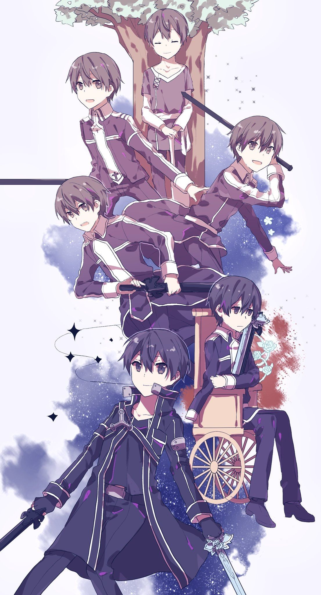 Sao Alicization Kirito Evolution Sword Art Online Wallpaper