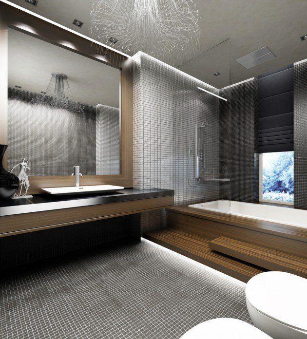 des id es de salle de bain moderne et minimaliste salles de bain modernes salle de bains et salle. Black Bedroom Furniture Sets. Home Design Ideas