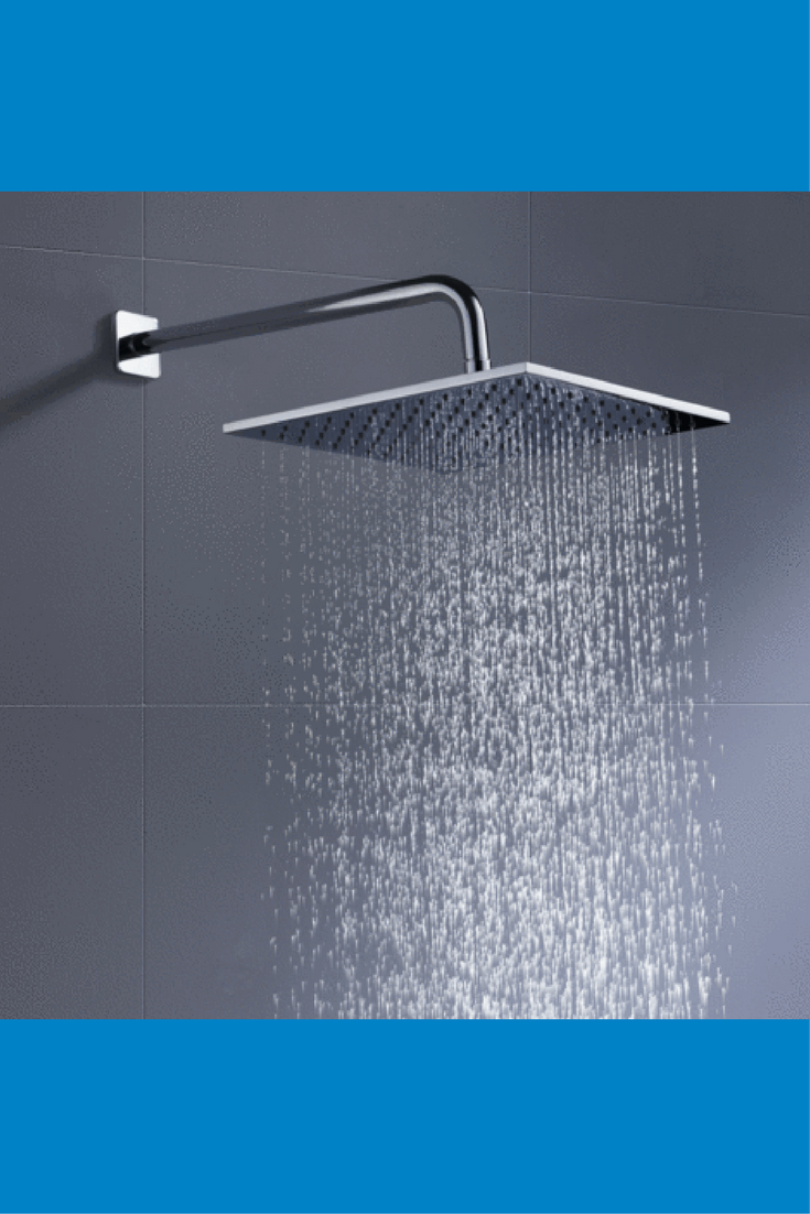 100 Metal 12 Inch Rain Shower Head Square 2 5 Gpm Rainfall Spray