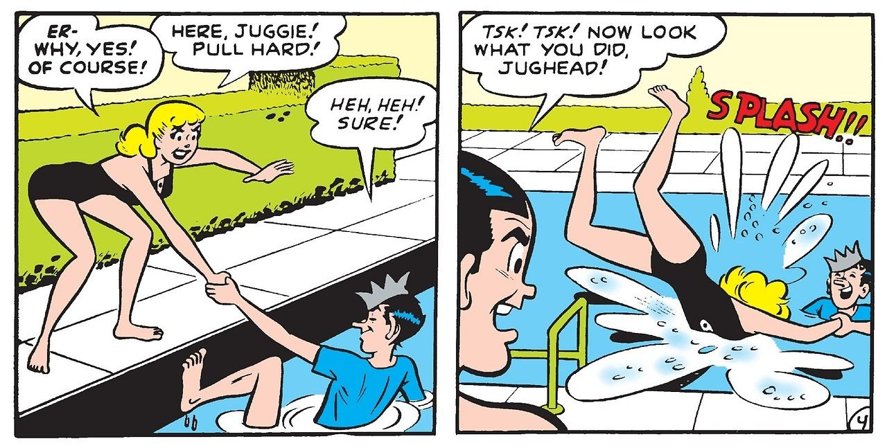 From Don't Go Near the Water, Archie's Girls Betty and Veronica #39 (1958).