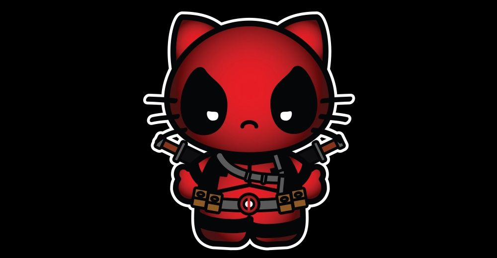 f252b5bed hello-kitty-deadpool | Hello Kitty! | Hello kitty tattoos, Hello ...