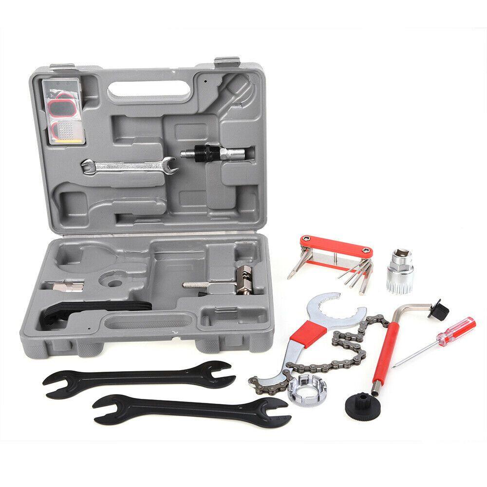 Sponsored Ebay 18pcs Complete Bike Bicycle Repair Mountain Road Tools Kit Set Case Box Bb P7c3 Bicycle Bike Bike Tool Kit Bicycle Tools
