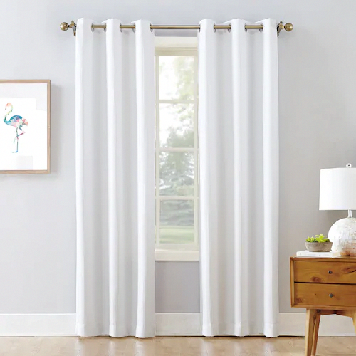The Big One Blackout 2 Pack James Solid Stripe Window Curtain