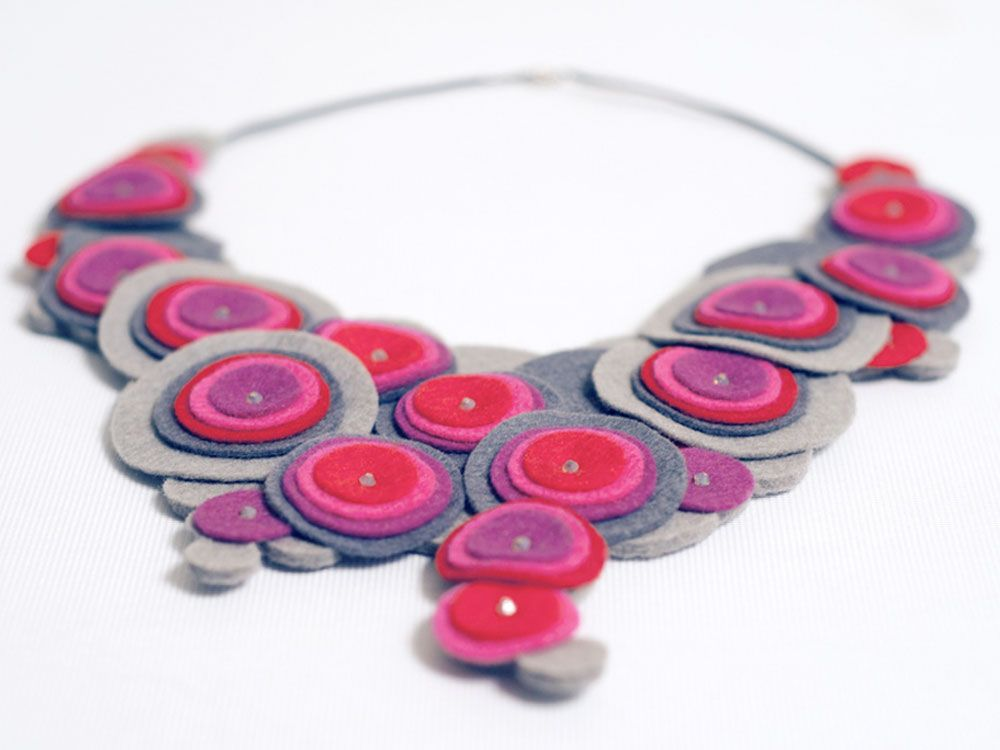 One of Jennifer Fecker's felt neckpieces