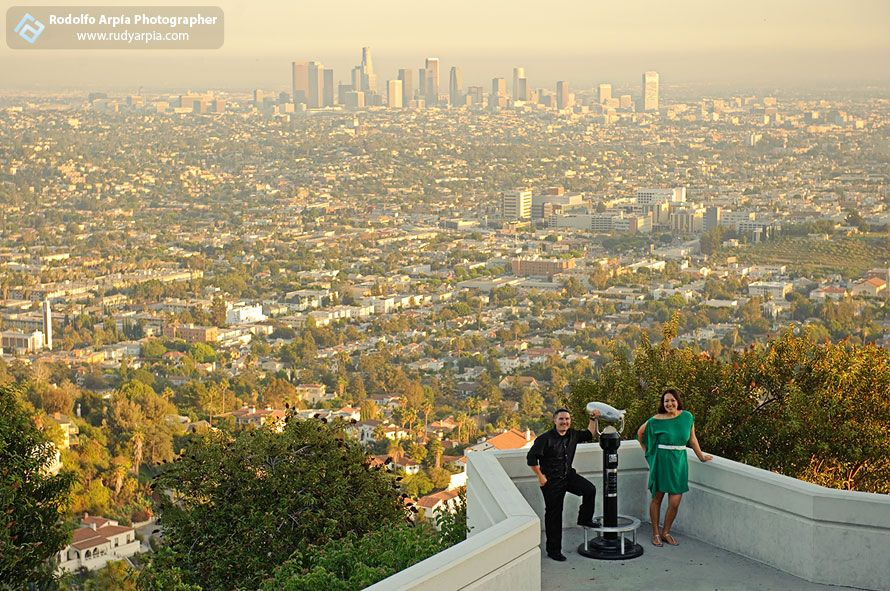 Griffith Observatory engagement pictures