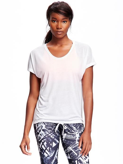Go-Dry Cool Drawstring Tee for Women