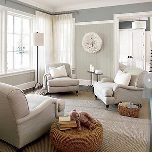 2 Tone Walls, Transitional, living room