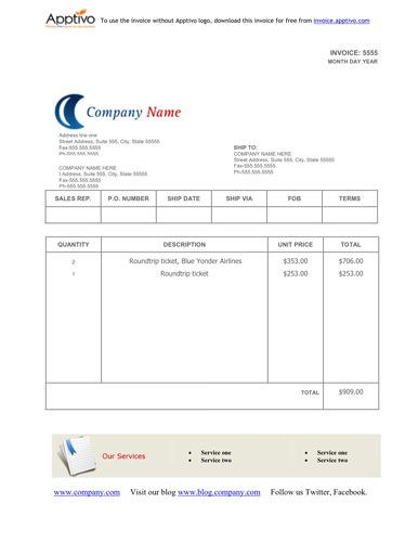 Blank-Invoice-Template | Ideas For The House | Pinterest