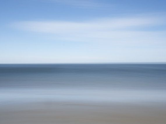 Ocean shore  impressionist photograph  Greeting by LifeisBalance