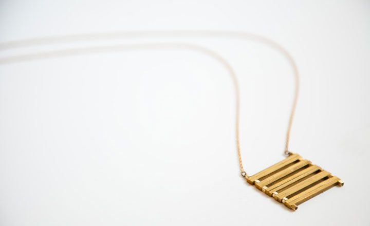 Laura Lombardi :: Brass Ladder Necklace