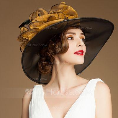 927aff8792c5c Ladies  Elegant Spring Summer Autumn Organza With Bowler Cloche Hat  (196075369)