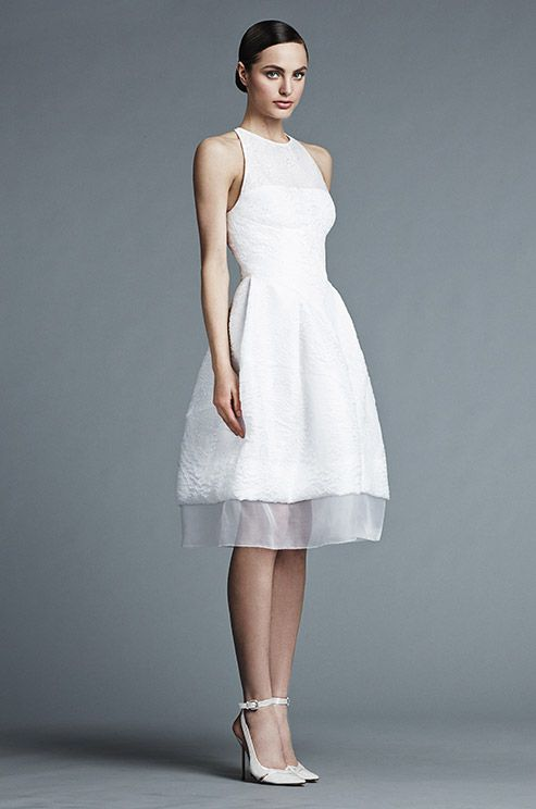 Such a chic short wedding dress! J. Mendel, Spring 2015 | Short ...