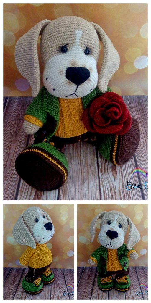 Crochet dachshund dog amigurumi free pattern – Free Amigurumi Patterns #toydol...