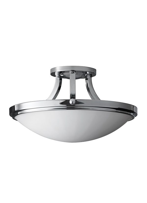 The feiss perry 2 light semi flush fixture in chrome provides abundant light to your home while adding style and interest featured in the decorative perry
