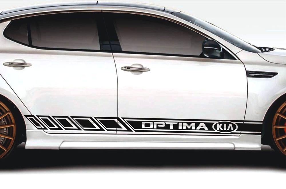 Details about KIA OPTIMA-2x side stripes vinyl graphics