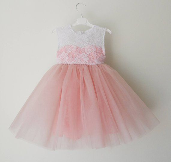 17905e1e31 Blush pink flower girl dress