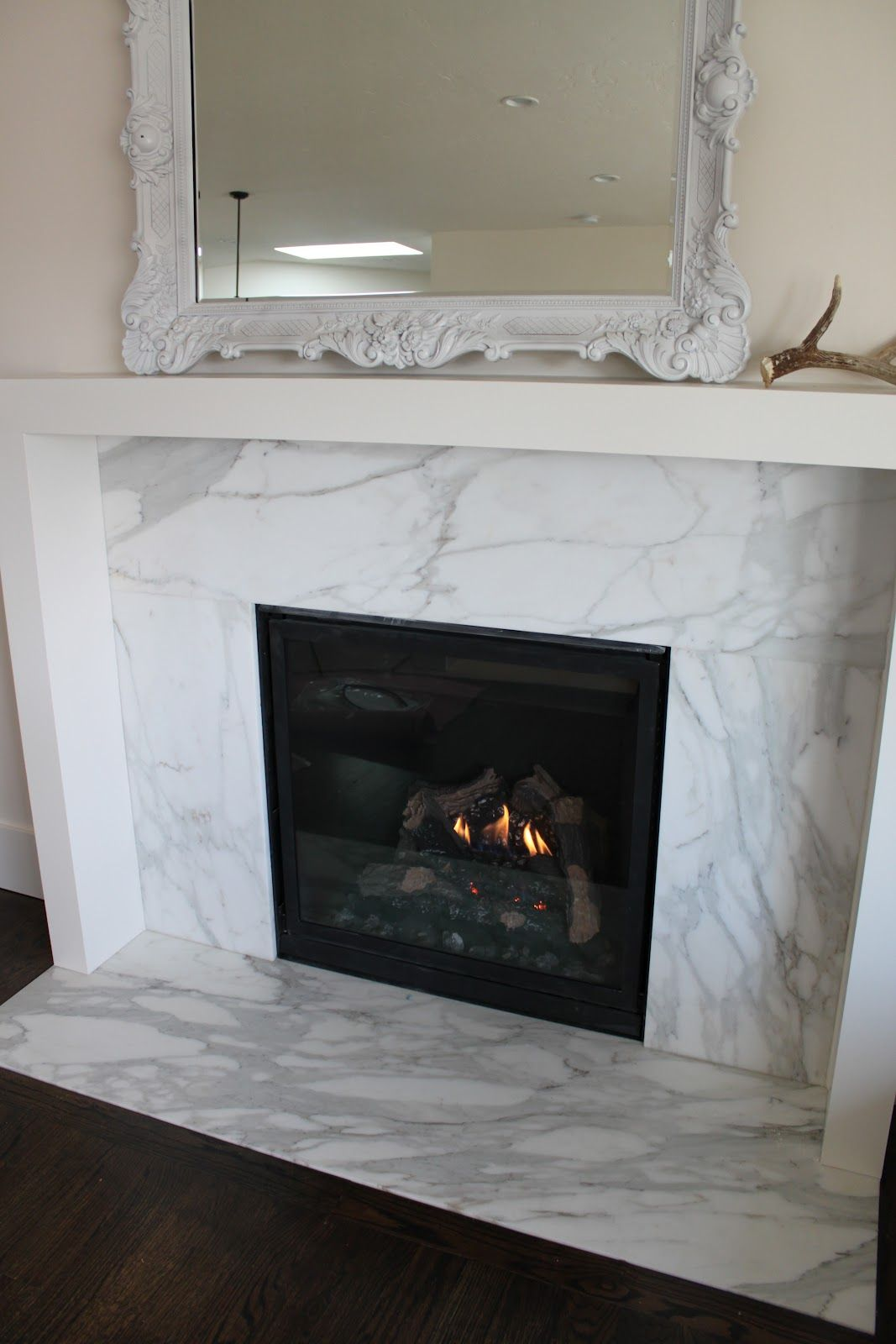 Fireplace Wood Burning Insert That Is Flush Against The