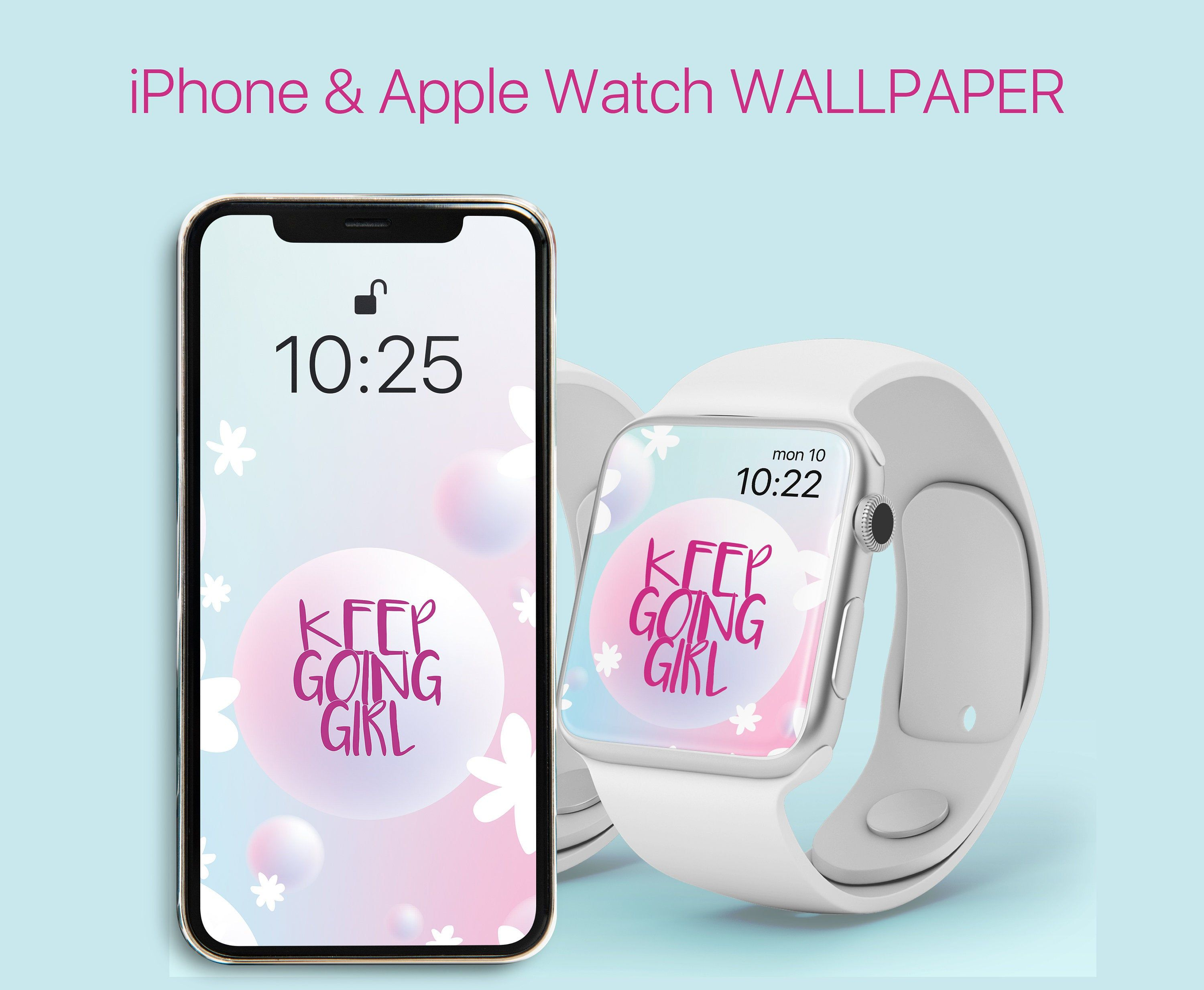Phone And Apple Watch Wallpaper Inspirational Quote Keep Going Girl Digital Instant Download Iphone Backg Apple Watch Wallpaper Apple Watch Faces Apple Watch Iphone apple watch face wallpaper hd