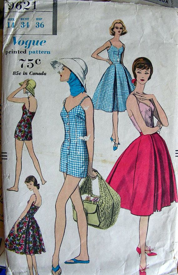ON SALE Vintage 50's VOGUE Sewing Pattern 9621 by anne8865, $40.39