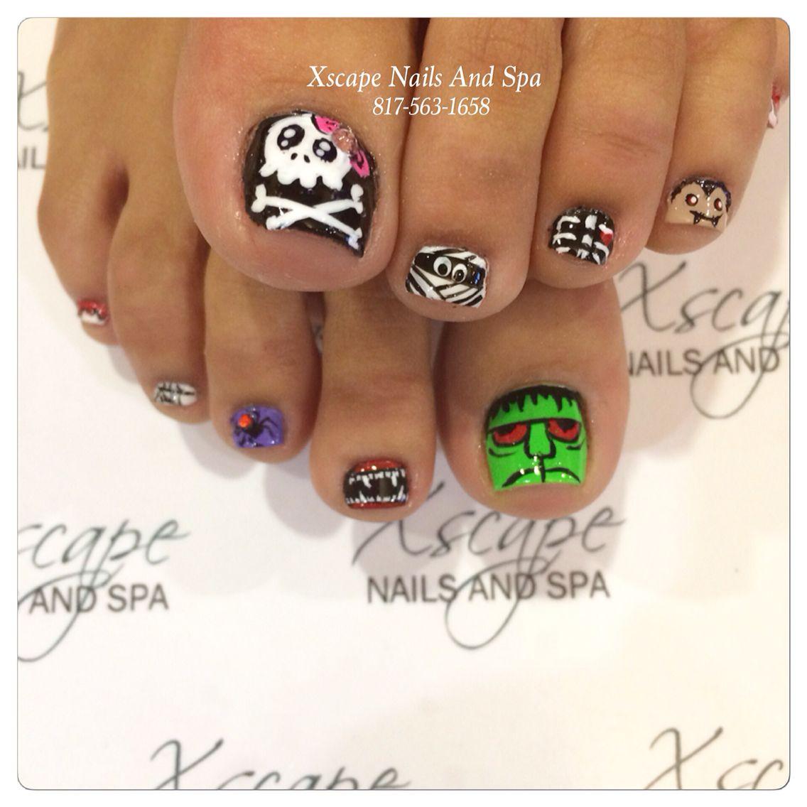 Halloween nails | Toe nails, Toe nail art, Toe nail designs