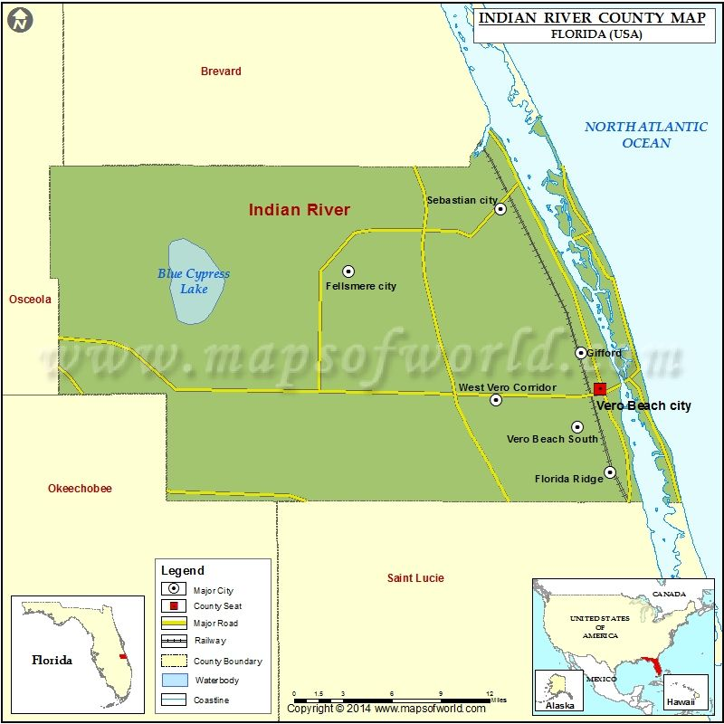 Florida In Usa Map.Map Of Indian River County In Florida Usa Maps County Map