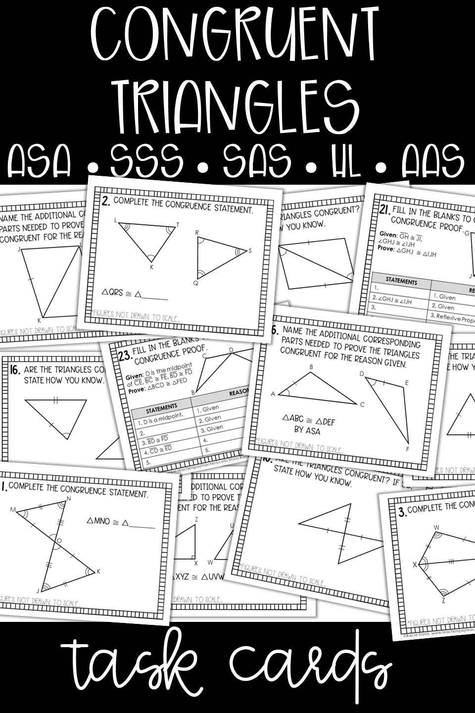 Congruent Triangles and Proofs Task Cards SSS, SAS, ASA
