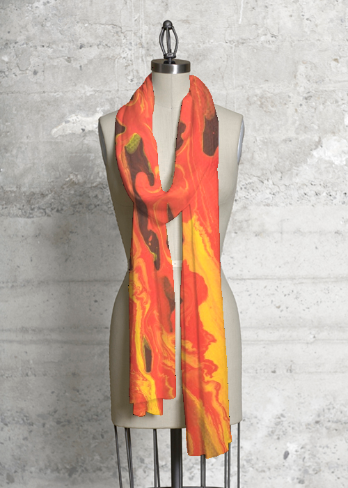 Modal Scarf Fire 100 Modal By Vida Original Artist With Images Modal Scarf Collection