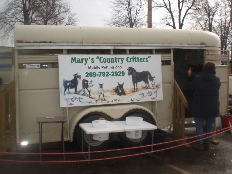 Mary's Country Critters Zoo consists of donkey, mini horse