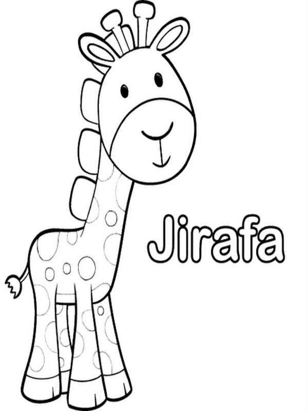 Jiraffe Jirafa Dibujo De Jirafa Animales Animados Para